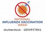 national influenza vaccination...   Shutterstock .eps vector #1854957841