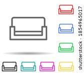 sofa multi color style icon....