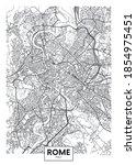 city map rome  travel vector... | Shutterstock .eps vector #1854975451