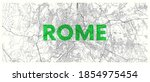 city map rome  detailed road... | Shutterstock .eps vector #1854975454