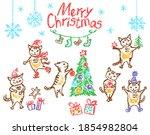 Christmas Funny Cats Set. Like...