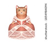 Illustration Of A Cat In A...