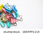 Colored Iron Paper Clips. Paper ...