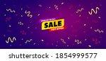 sale 50  off banner. festive... | Shutterstock .eps vector #1854999577