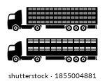 livestock truck icon. black...   Shutterstock .eps vector #1855004881