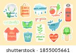 set of colorful vector stickers ...   Shutterstock .eps vector #1855005661
