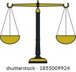 justice scale icon. editable...