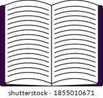 open book icon. editable...