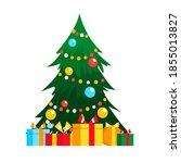 green christmas tree as symbol ...   Shutterstock .eps vector #1855013827