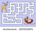 Childrens Game Maze. Help The...