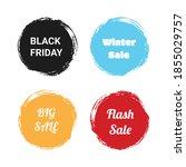 set sale brush banner...   Shutterstock .eps vector #1855029757