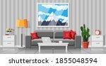 interior of modern living room. ... | Shutterstock .eps vector #1855048594