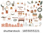 merry christmas or happy new... | Shutterstock .eps vector #1855055221