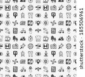 seamless doodle map gps... | Shutterstock .eps vector #185506961