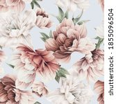 seamless floral pattern with... | Shutterstock . vector #1855096504
