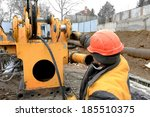 Male Construction Worker On A...