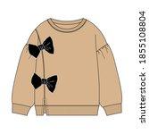 women's sweater. fashion flat...   Shutterstock .eps vector #1855108804