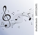 paper background with music... | Shutterstock . vector #185512631