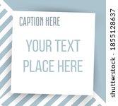 paper square sticker on... | Shutterstock .eps vector #1855128637