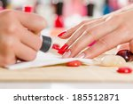 close up of process of manicure ... | Shutterstock . vector #185512871