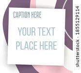 paper square sticker on... | Shutterstock .eps vector #1855129114