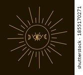 illustration of the mystic of... | Shutterstock .eps vector #1855170271