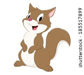 cartoon squirrel. isolated... | Shutterstock .eps vector #185517899
