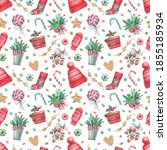 bright seamless pattern with... | Shutterstock . vector #1855185934