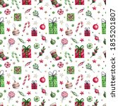 bright seamless pattern with... | Shutterstock . vector #1855201807