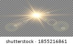 vector transparent sunlight... | Shutterstock .eps vector #1855216861