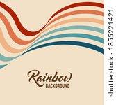 twisted waving rainbow flag.... | Shutterstock .eps vector #1855221421