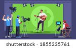 singing show semi flat vector... | Shutterstock .eps vector #1855235761