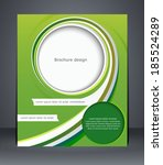 green design brochure  magazine ... | Shutterstock .eps vector #185524289