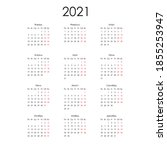 russian calendar for 2021 on...   Shutterstock .eps vector #1855253947