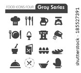 food icons gray series four | Shutterstock .eps vector #185527391