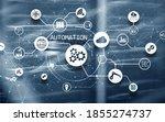 business process automation...   Shutterstock . vector #1855274737