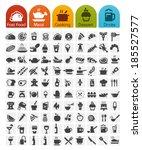 food icons bulk series   100...   Shutterstock .eps vector #185527577