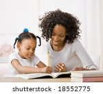 devoted mother helping daughter ... | Shutterstock . vector #18552775