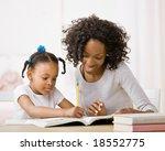 devoted mother helping daughter ...   Shutterstock . vector #18552775