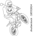 noel trial moto bike outline | Shutterstock .eps vector #18552814