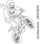 noel trial moto bike outline | Shutterstock .eps vector #18552814