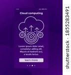 cloud computing mobile banner...