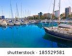 Gandia Nautico Marina boats in Valencia Mediterranean Spain