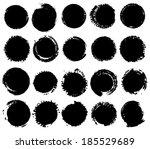 vector grunge shapes. | Shutterstock .eps vector #185529689