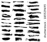 vector set of grunge brush... | Shutterstock .eps vector #185529695