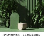 3d Wooden Podium Display With...