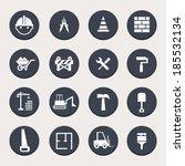 construction button set | Shutterstock .eps vector #185532134
