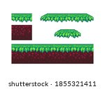 pixel art ground and grass tile ...