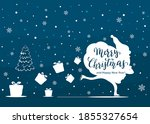 blue background with christmas... | Shutterstock .eps vector #1855327654