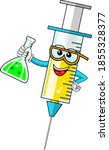 smiling cartoon character... | Shutterstock .eps vector #1855328377